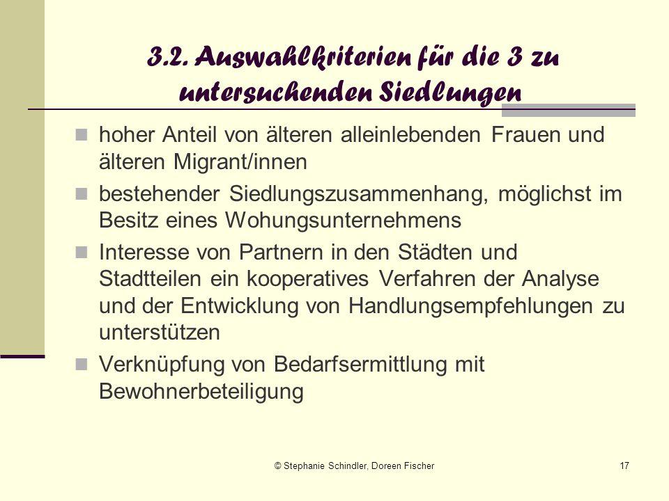 © Stephanie Schindler, Doreen Fischer17 hoher Anteil von älteren alleinlebenden Frauen und älteren Migrant/innen bestehender Siedlungszusammenhang, mö