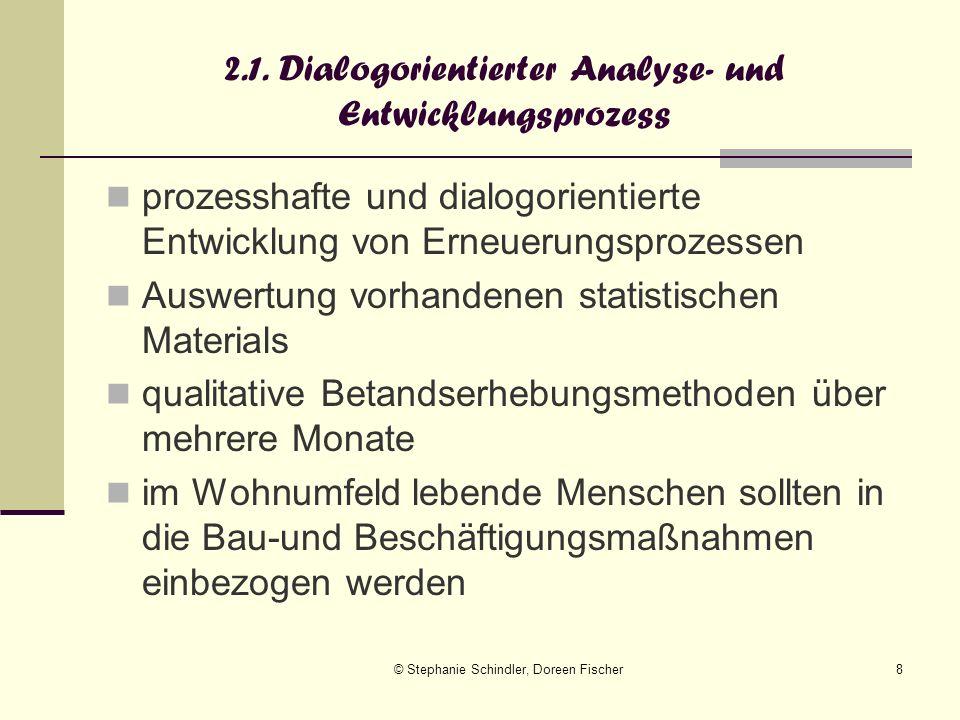 © Stephanie Schindler, Doreen Fischer8 2.1. Dialogorientierter Analyse- und Entwicklungsprozess prozesshafte und dialogorientierte Entwicklung von Ern