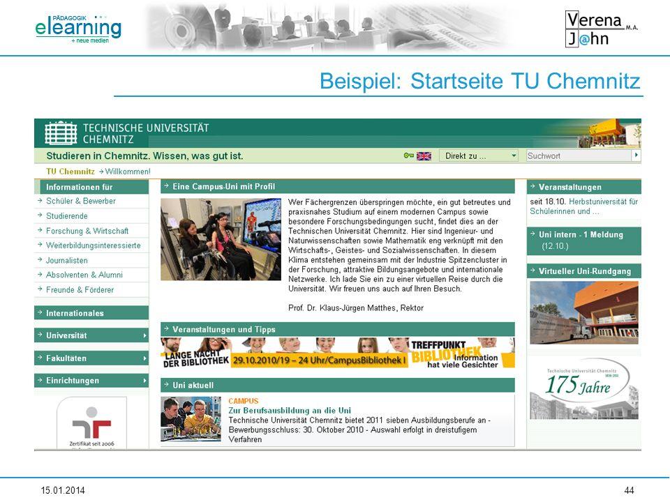 Beispiel: Startseite TU Chemnitz 15.01.201444