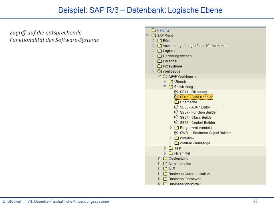 21 Beispiel: SAP R/3 – Datenbank: Logische Ebene B.