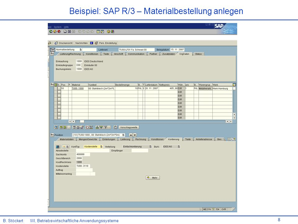 8 B. Stöckert WI, Betriebswirtschaftliche Anwendungssysteme