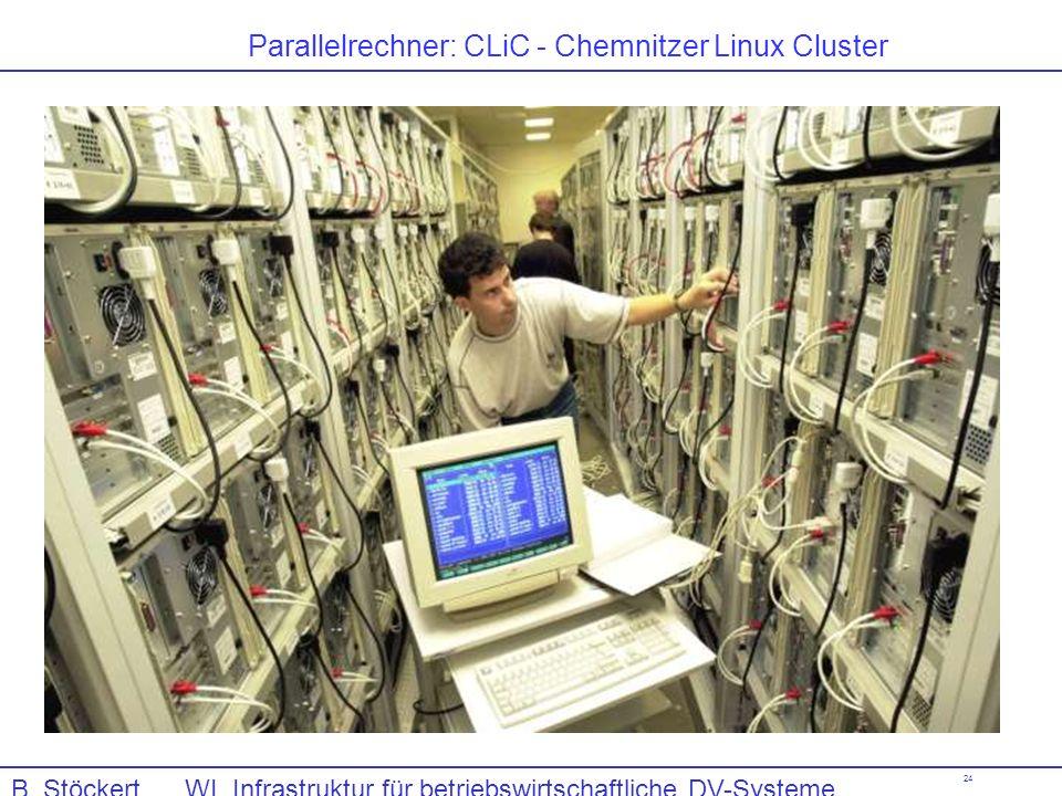24 Parallelrechner: CLiC - Chemnitzer Linux Cluster B. Stöckert WI, Infrastruktur für betriebswirtschaftliche DV-Systeme, Computerhardware