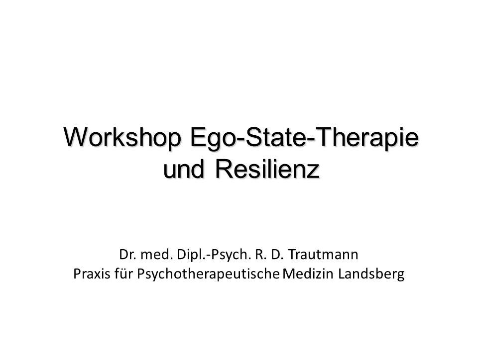 Dr. med. Dipl.-Psych. R. D. Trautmann Praxis für Psychotherapeutische Medizin Landsberg Workshop Ego-State-Therapie und Resilienz