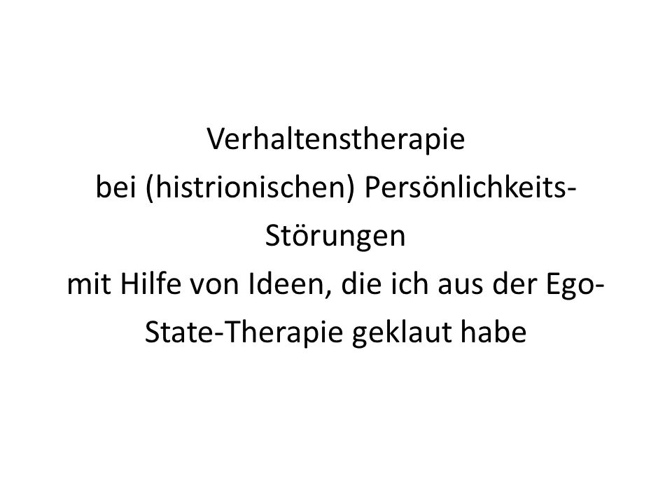 Neuere Psychotherapien Schematherapie (Young) Metakognitive Therapie (Wells) Cognitive Behavioral Analysis System of Psychotherapy (McCullough) Mindfulness-based Cognitive Therapy (Segal, Teasdale, Williams) Acceptance und Commitment Therapy