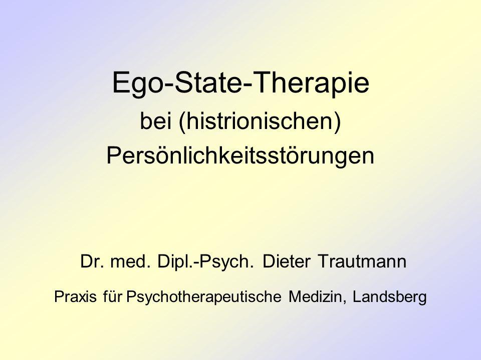Ego-State-Therapie bei (histrionischen) Persönlichkeitsstörungen Dr. med. Dipl.-Psych. Dieter Trautmann Praxis für Psychotherapeutische Medizin, Lands