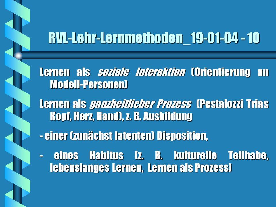 RVL-Lehr-Lernmethoden_19-01-04 - 10 Lernen als soziale Interaktion (Orientierung an Modell-Personen) Lernen als ganzheitlicher Prozess (Pestalozzi Tri