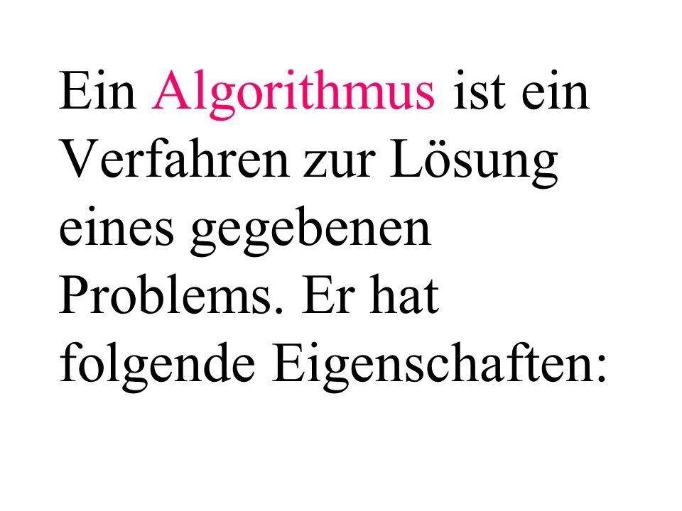 Darstellungsmöglichkeiten eines Algorithmus