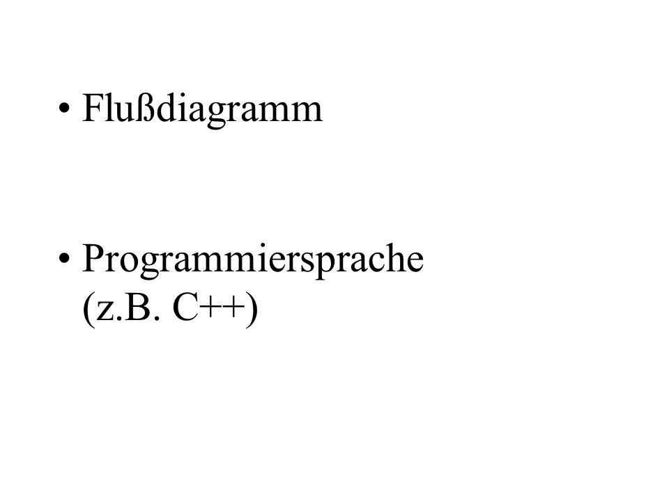 Flußdiagramm Programmiersprache (z.B. C++)
