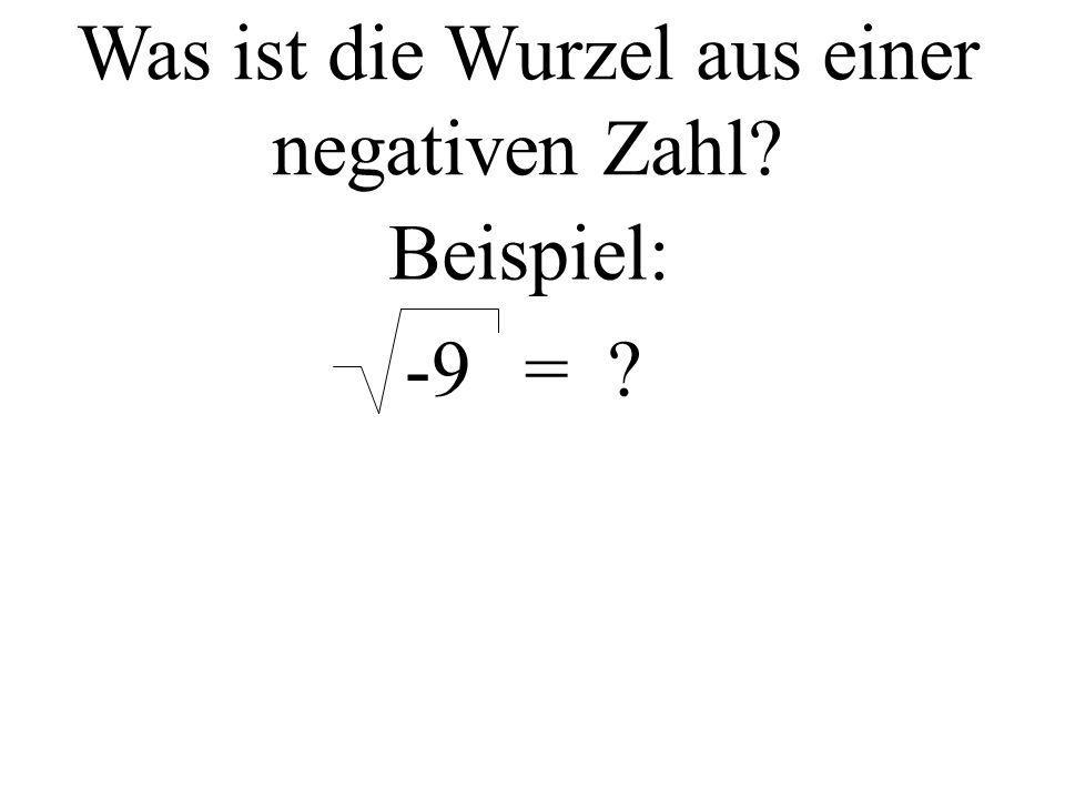 Was ist die Wurzel aus einer negativen Zahl Beispiel: