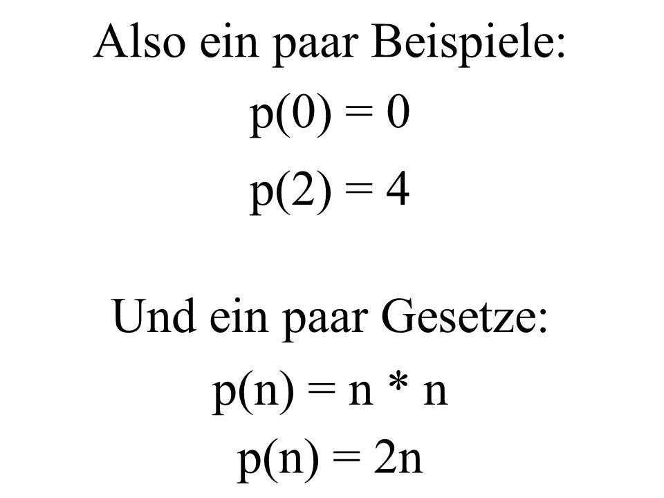 Von dieser Überlegung ausgehend definiert Herr X die Purzel aus einer Zahl: Die Purzel p einer Zahl ist die Quadratzahl einer Zahl, die zugleich dem Doppelten der Zahl ist.