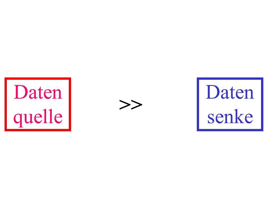 Daten quelle Daten senke >>