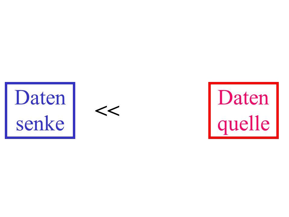 Daten senke Daten quelle <<