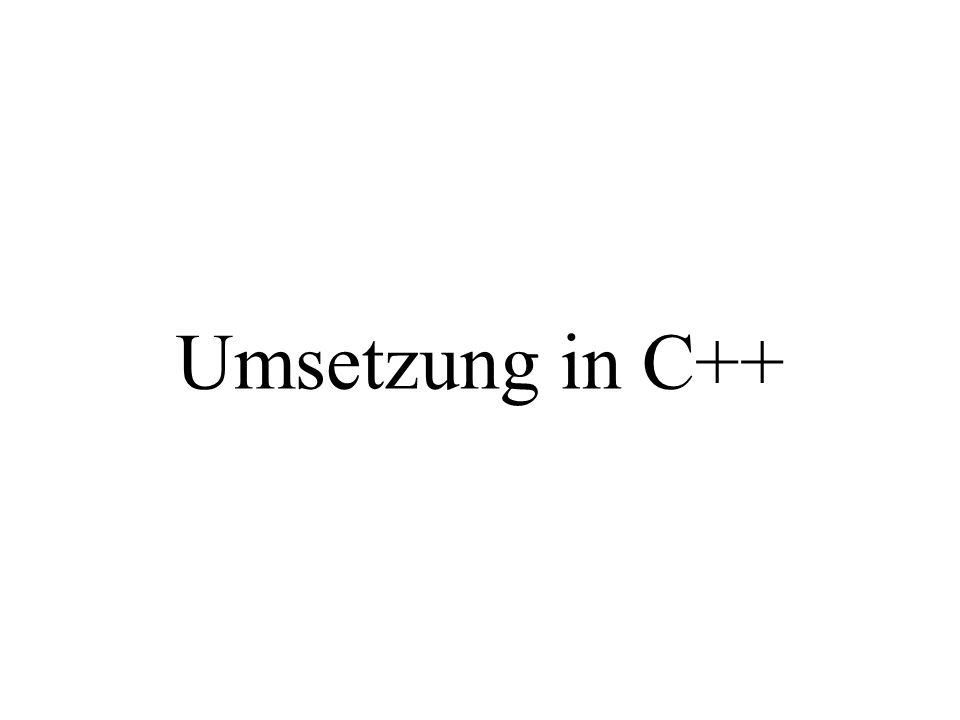 Umsetzung in C++