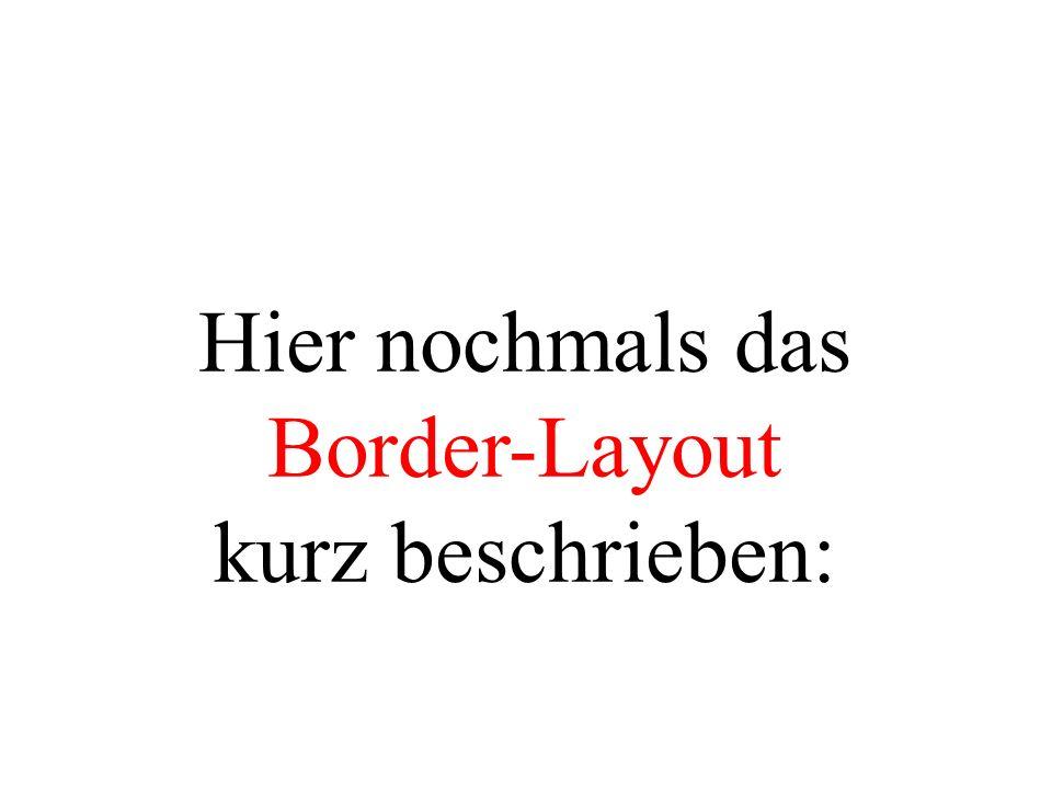 Hier nochmals das Border-Layout kurz beschrieben: