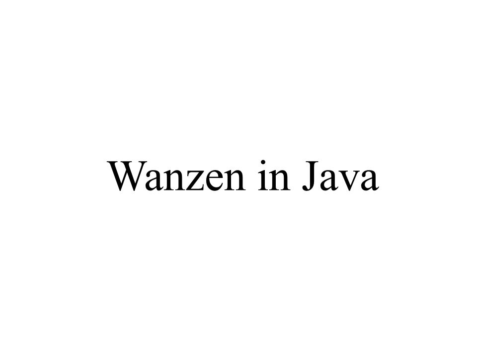 Wanzen in Java