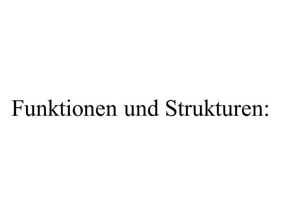 Funktionen und Strukturen: