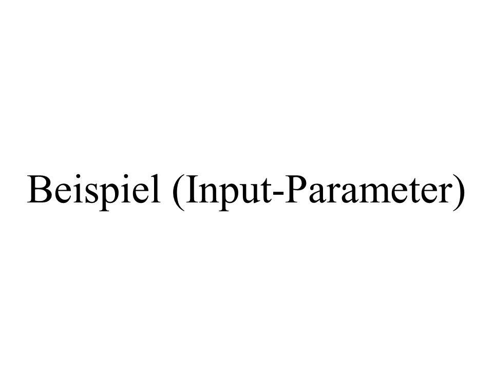 Beispiel (Input-Parameter)