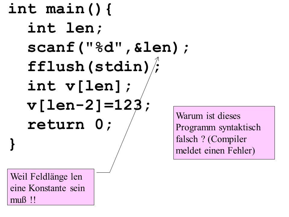 int main(){ int len; scanf(
