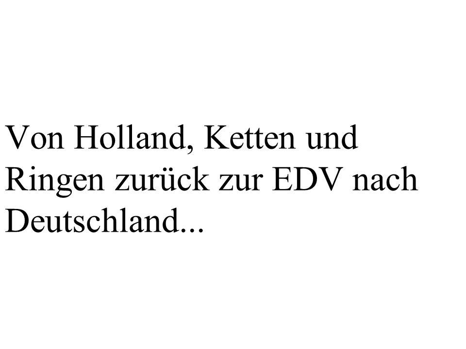 Von Holland, Ketten und Ringen zurück zur EDV nach Deutschland...