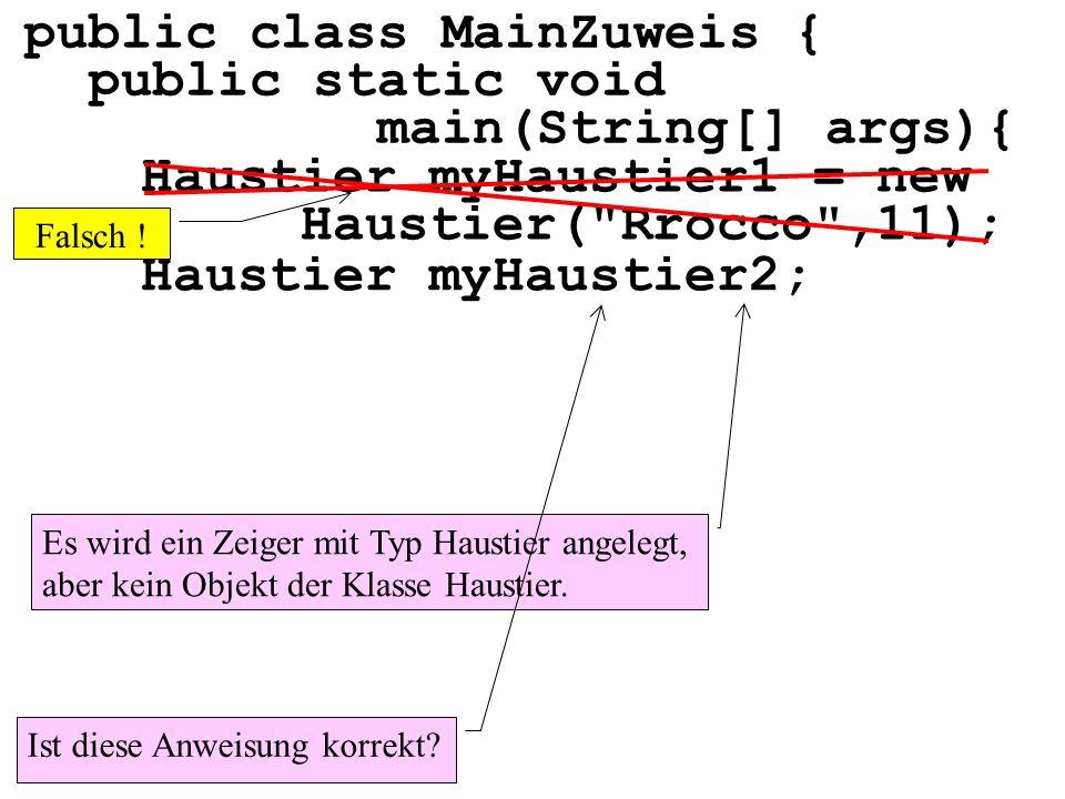 Haustier myHaustier1 = new Haustier(