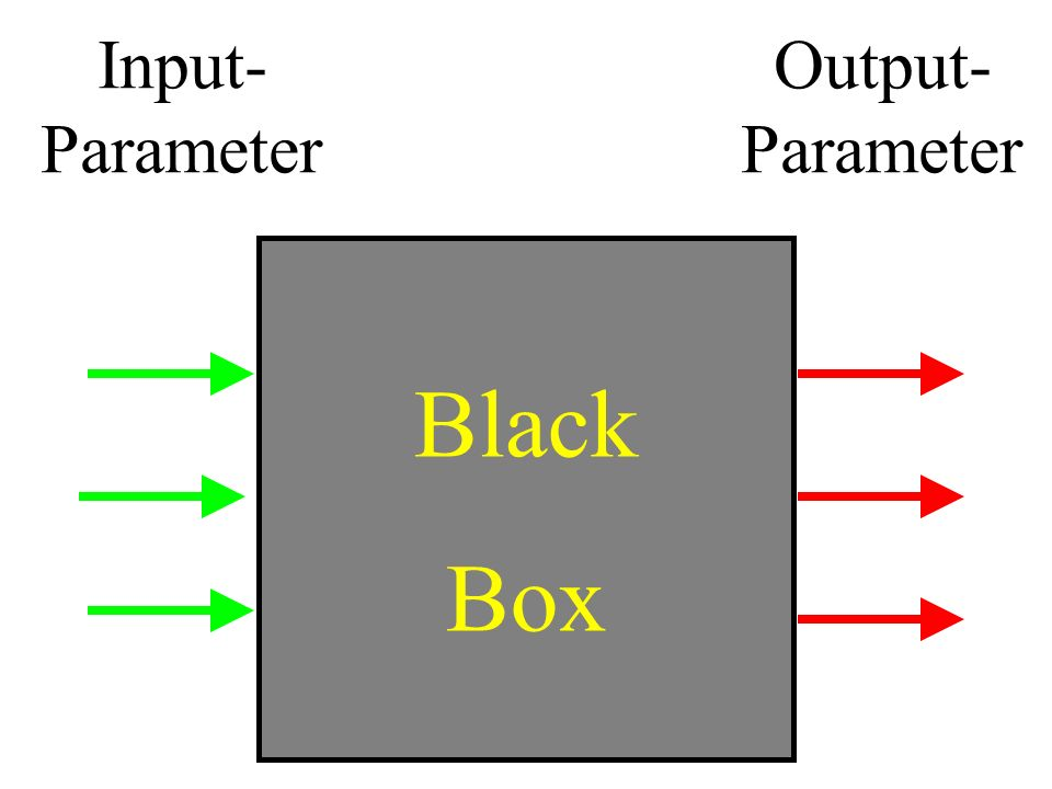 Input- Parameter Output- Parameter Black Box