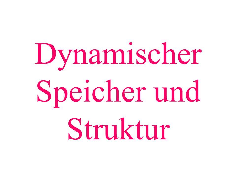 Dynamischer Speicher und Struktur