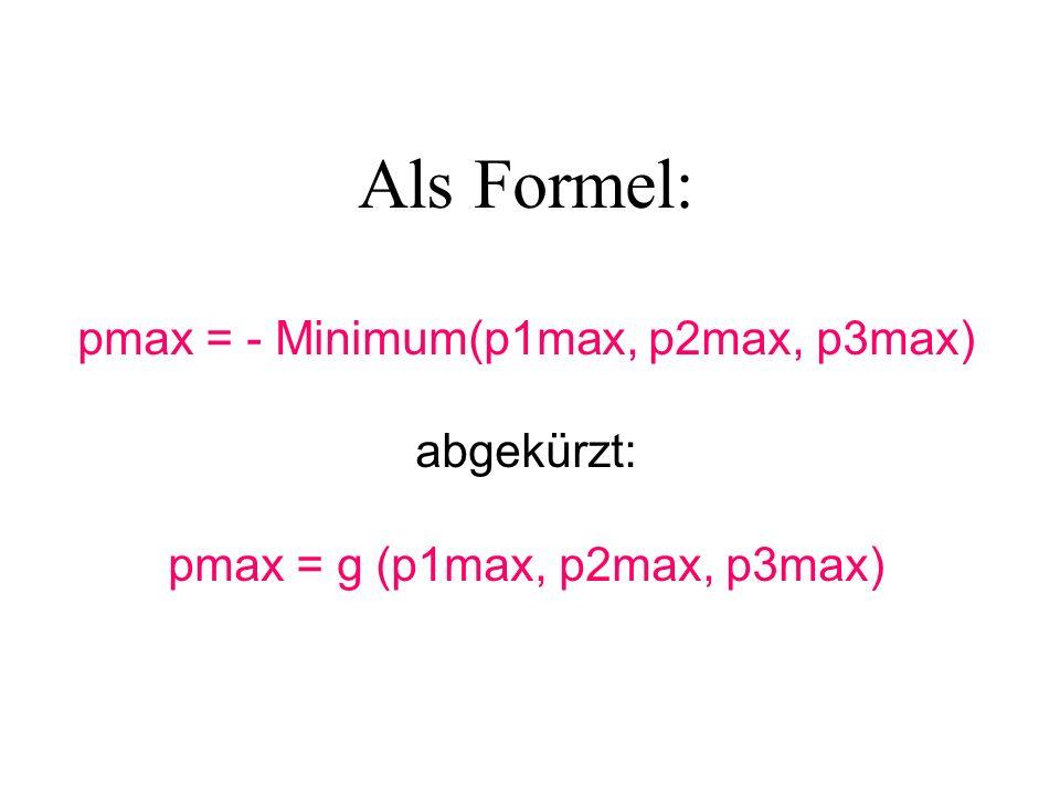 Als Formel: pmax = - Minimum(p1max, p2max, p3max) abgekürzt: pmax = g (p1max, p2max, p3max)