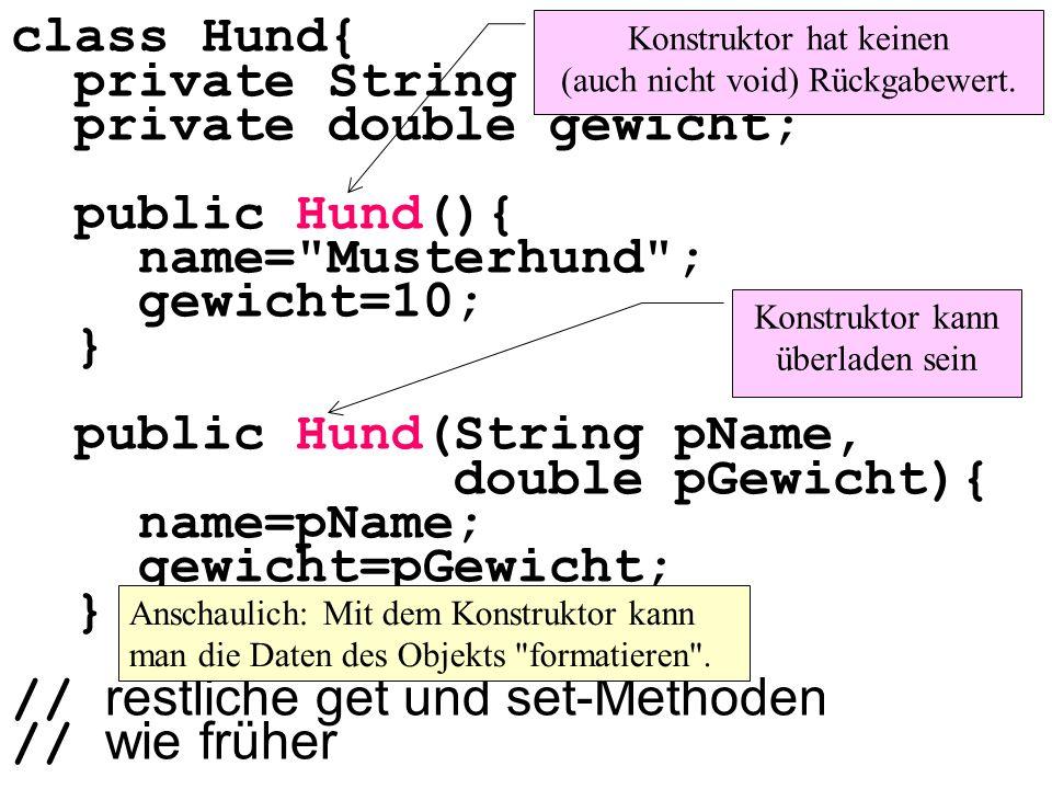 Beispiele für das Instanzieren von Objekten:
