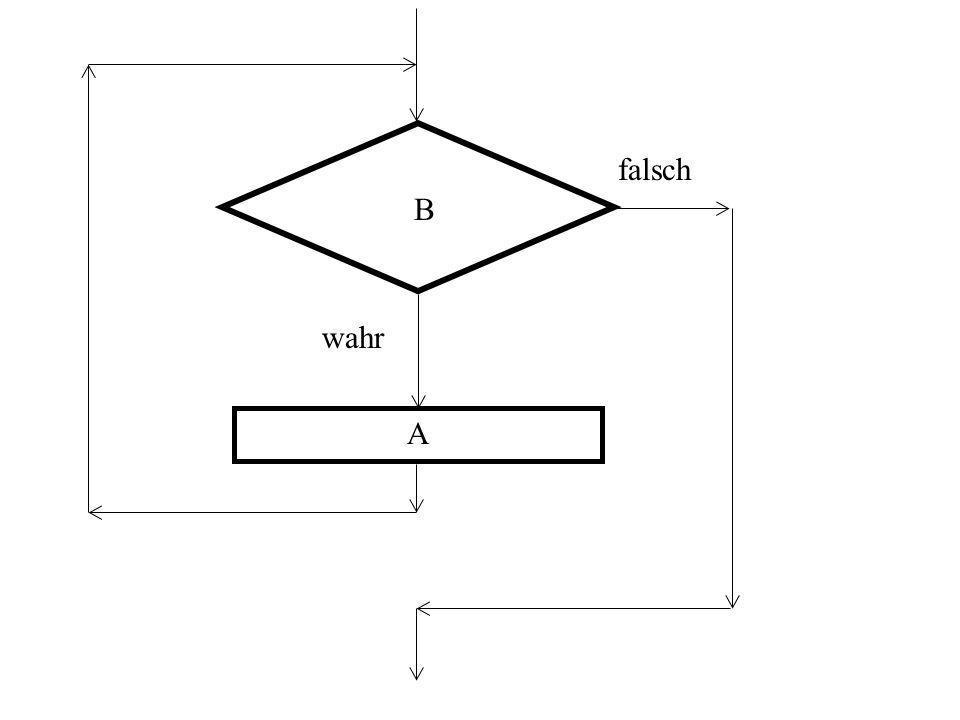 WHILE - Anweisung als Struktogramm