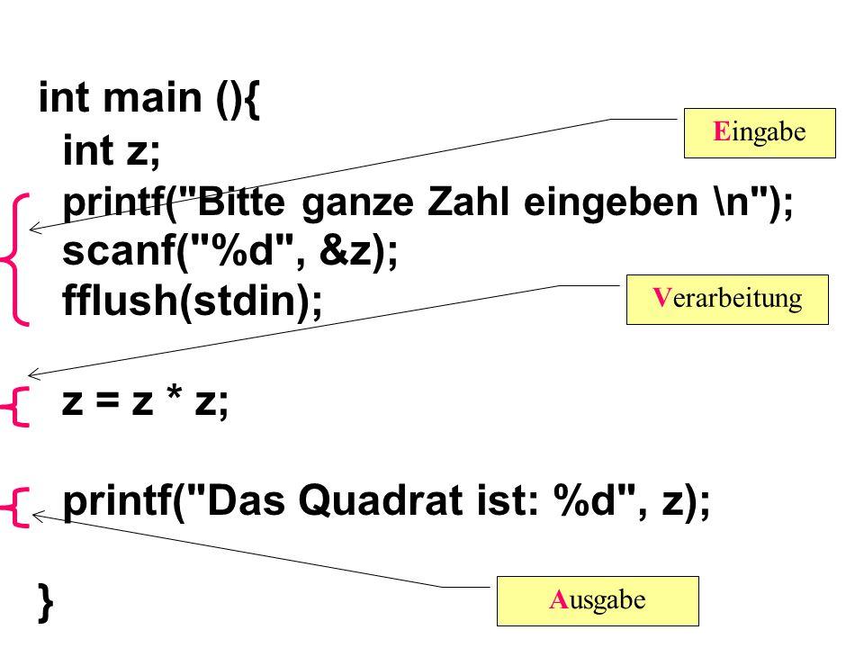 int main (){ int z; printf(