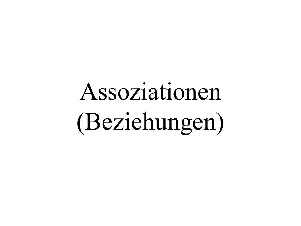 public class MainAssoziation_1zu1Uni_nr1a{ public static void main(String[] args){ } Fahrer myFahrer = new Fahrer(); Auto myCar = new Auto(); myCar.setKfzZeichen( B-KI 11 ); myFahrer.setName( Maier ); myCar.f = myFahrer; System.out.println( Name des Autofahrers= +myCar.f.name); Wie wird ein Fahrer erzeugt.