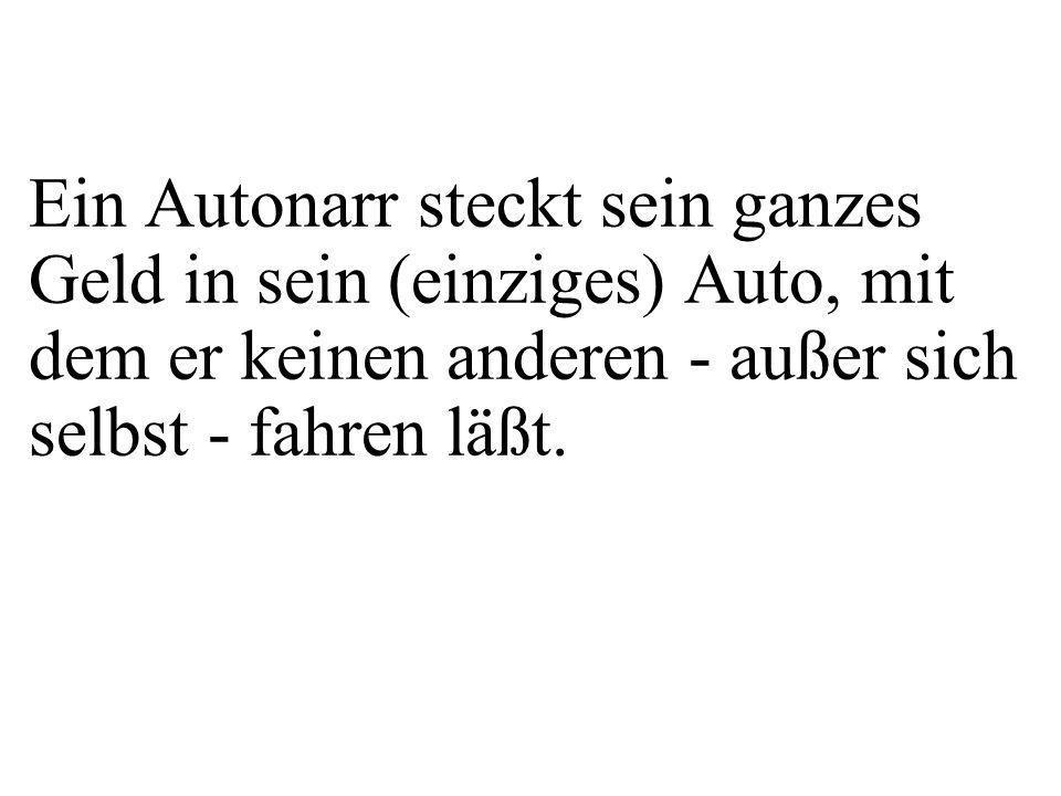 class Auto{ private String kfzZ; private Fahrer f; public Auto(String pKfzZ, String pName){ kfzZ = pKfzZ; f = new Fahrer(pName,....); } Auto myCar = new Auto( B-KI 11 , Maier ); Was geschieht in main(...) bei folgender Anweisung?