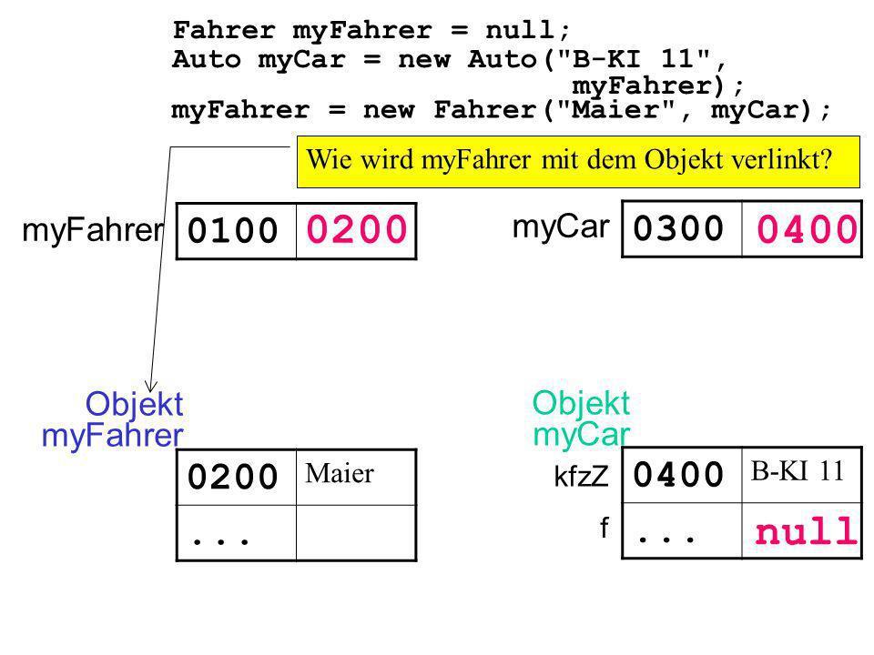 Auto myCar = new Auto(