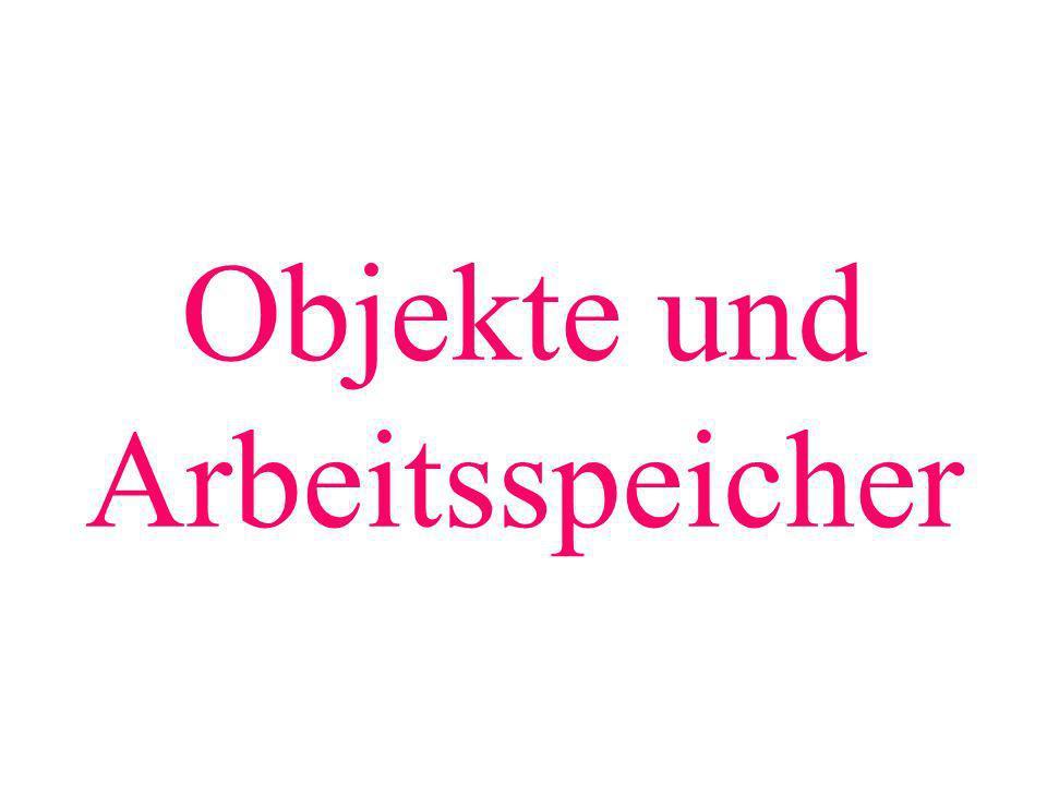 public class MainKlassen1 { public static void main(String[] args){ int j; int i; System.out.println( i= +i); i=j; Hund myh1; System.out.println( myh1= +myh1); System.out.println( myh1.getGewicht() +myh1.getGewicht()); i=5; j=7; } } class Hund{ // wie vorher } Fehler: i wird ausgelesen (ausgewertet), ohne vorher initialisiert worden zu sein.