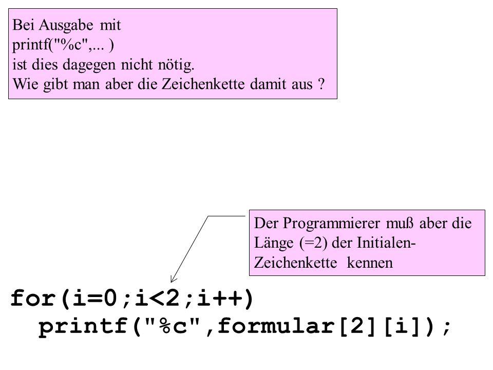 for(i=0;i<2;i++) printf(