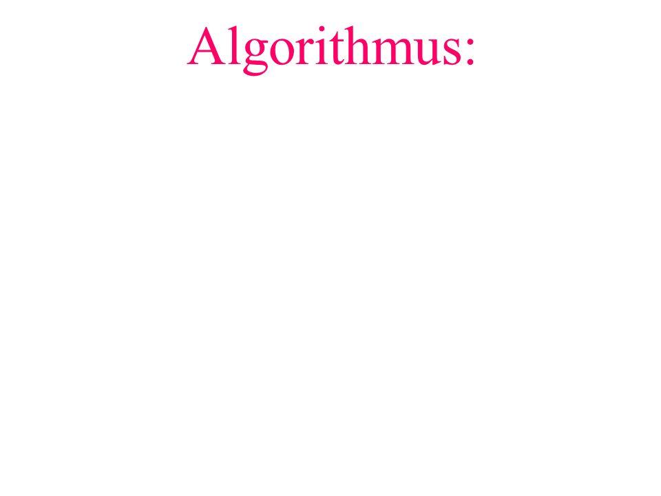 Algorithmus: