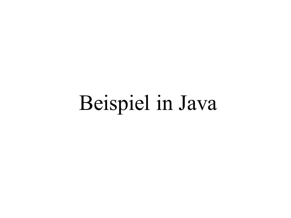 Beispiel in Java