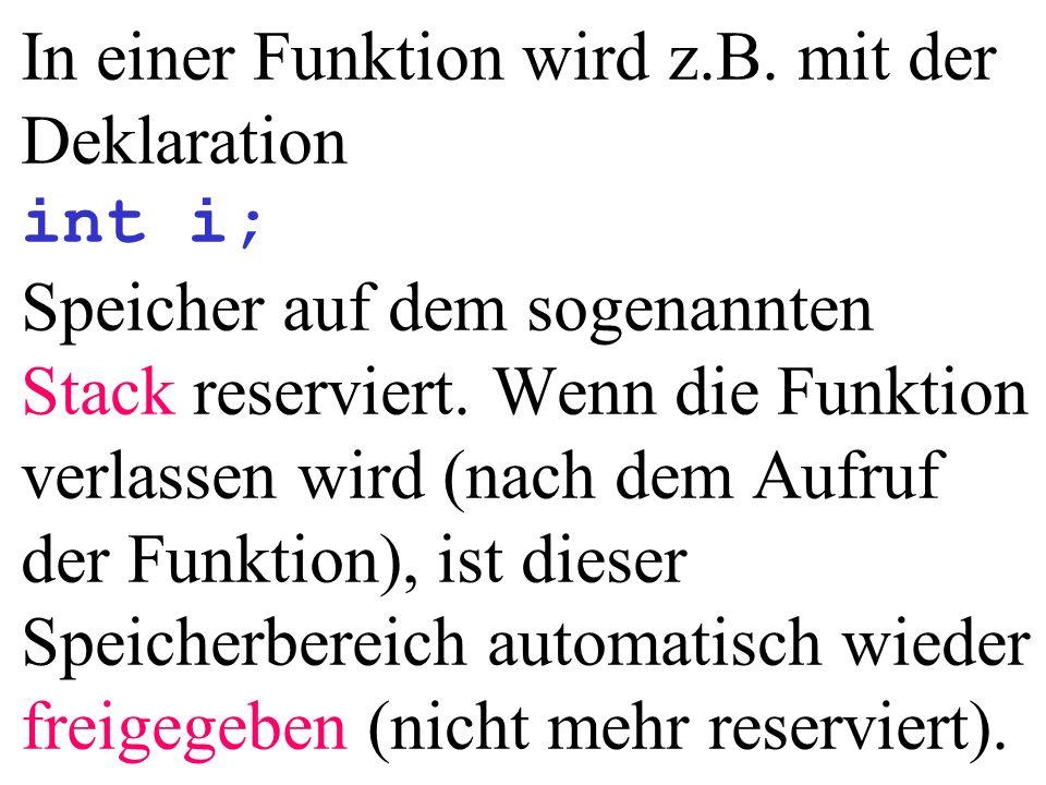 int main(){ int anz; int *pi; Konto *pk, *pkk; anz = rand(); *pi = 5; (*pk).setM( M ); (*(pkk+1)).setM( F ); 0100...