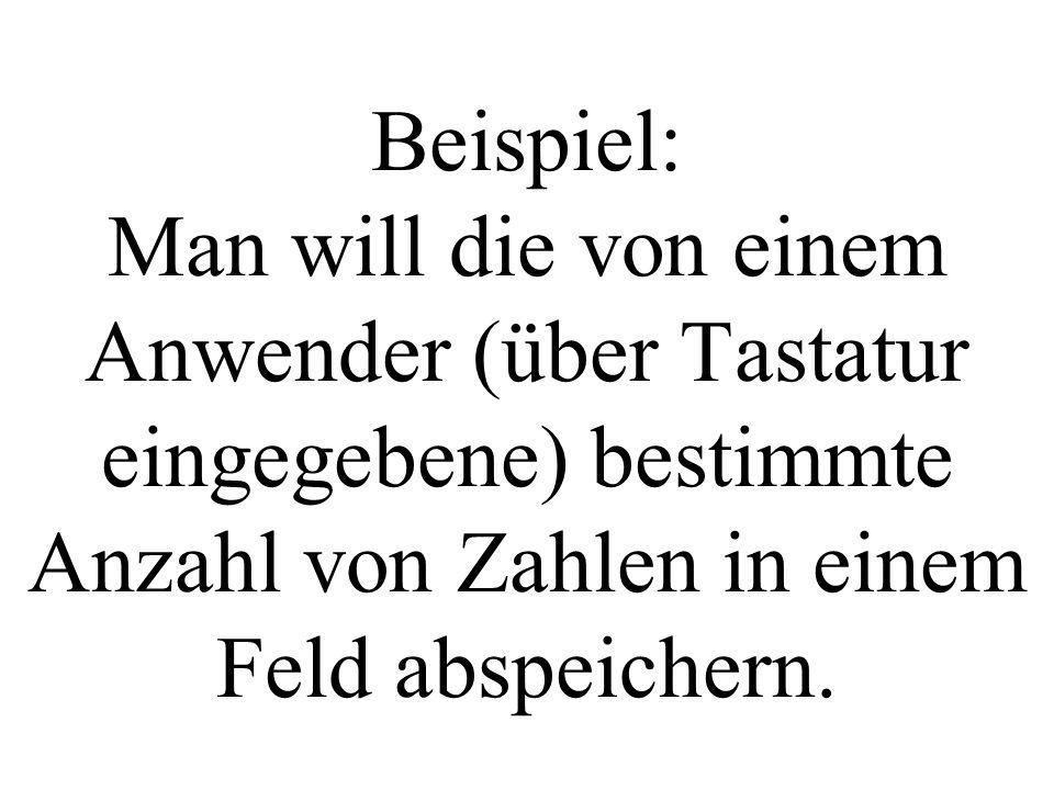 int main(){ int myfeld[1000]; //...