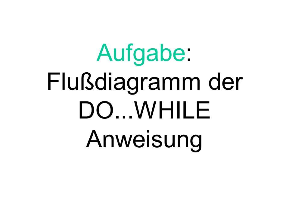 Aufgabe: Flußdiagramm der DO...WHILE Anweisung