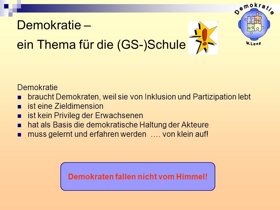 Demokratie – ein Thema für die (GS-)Schule .