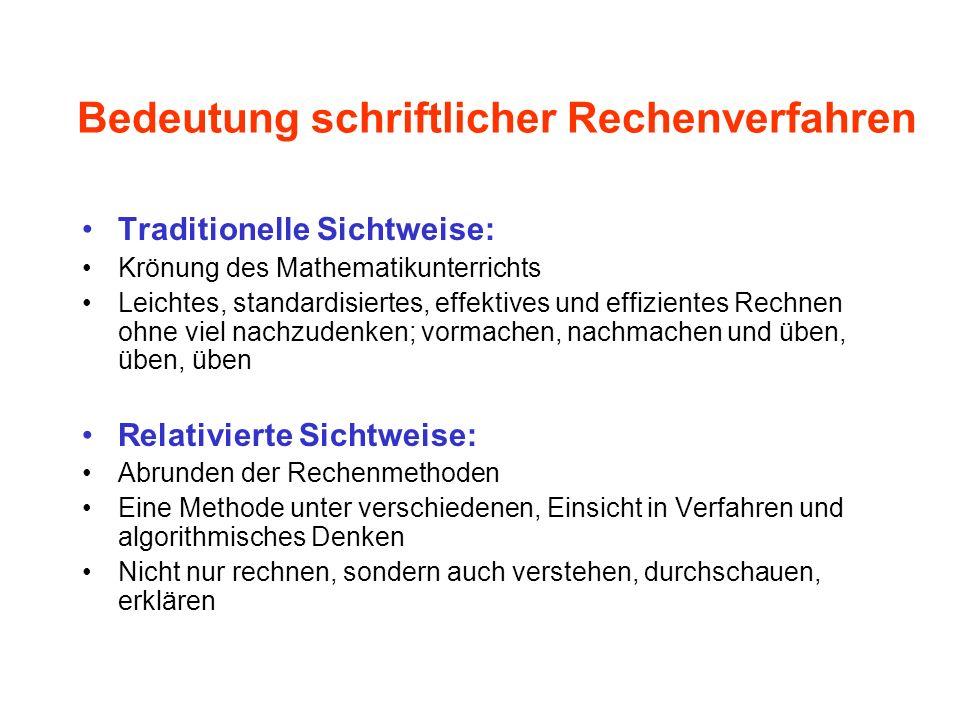 Schriftliche Division in Schulbüchern Denken und Rechnen 1998, S. 70