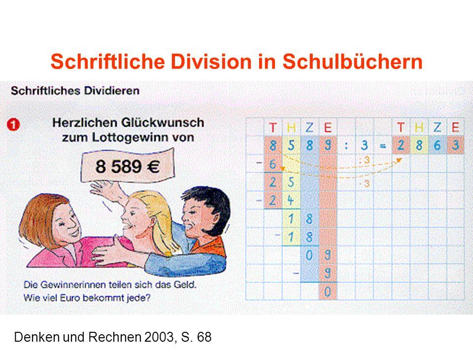 Schriftliche Division in Schulbüchern Denken und Rechnen 2003, S. 68