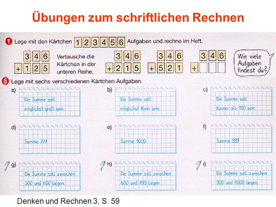 Übungen zum schriftlichen Rechnen Denken und Rechnen 3, S. 59