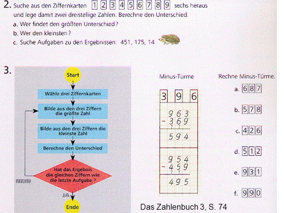 Übungen zum schriftlichen Rechnen Das Zahlenbuch 3, S. 74