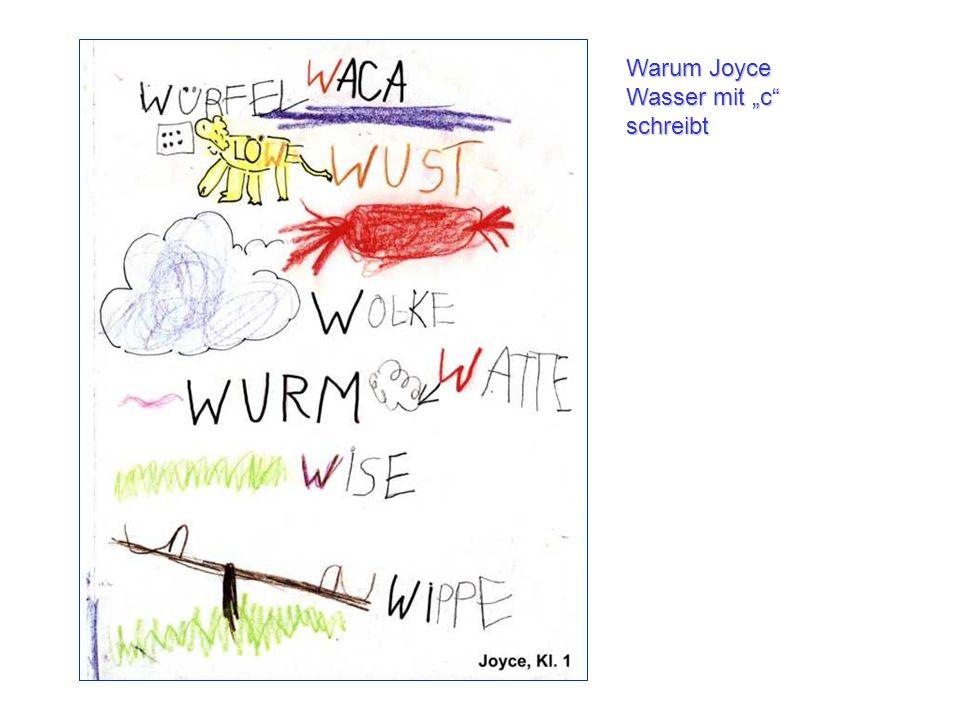 Warum Joyce Wasser mit c schreibt