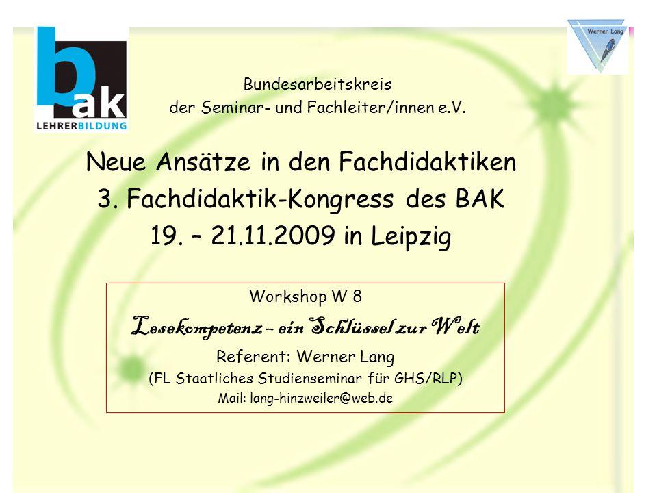 Bundesarbeitskreis der Seminar- und Fachleiter/innen e.V.
