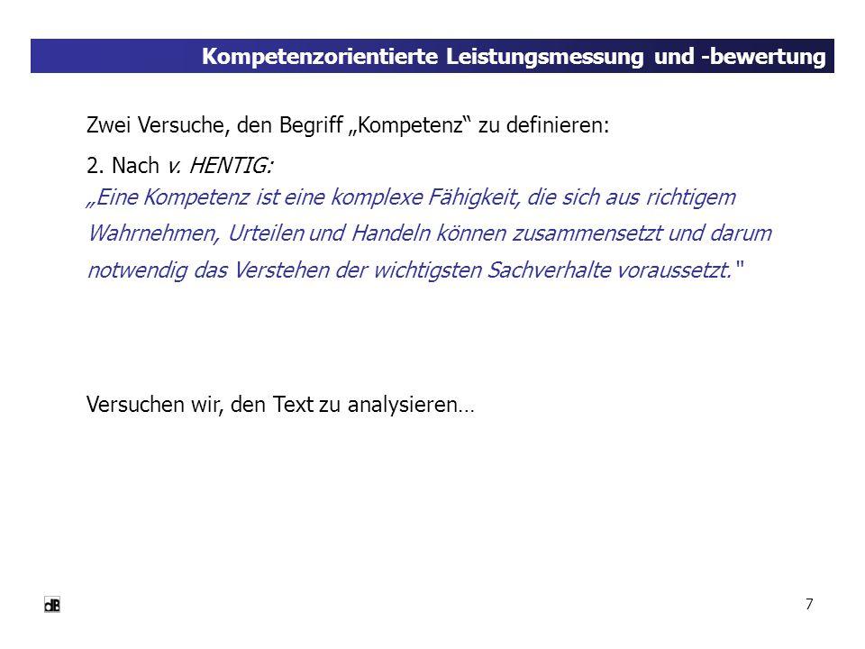 28 Kompetenzorientierte Leistungsmessung und -bewertung (Quelle: MEYER, H., Was ist guter Unterricht?, 2004)