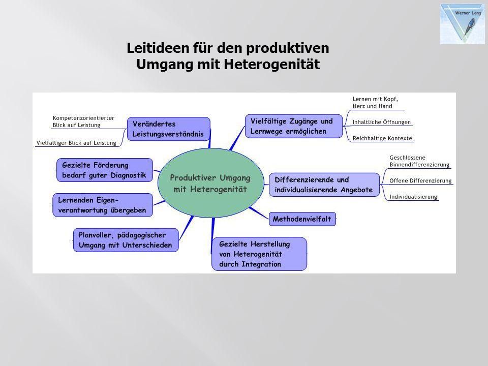 Leitideen für den produktiven Umgang mit Heterogenität