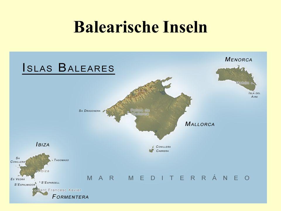 Mallorca liegt im westlichen Mittelmeer ist die größte Insel der Balearen-Gruppe Auf Mallorca befindet sich die Hauptstadt der Balearischen Inseln Palma.